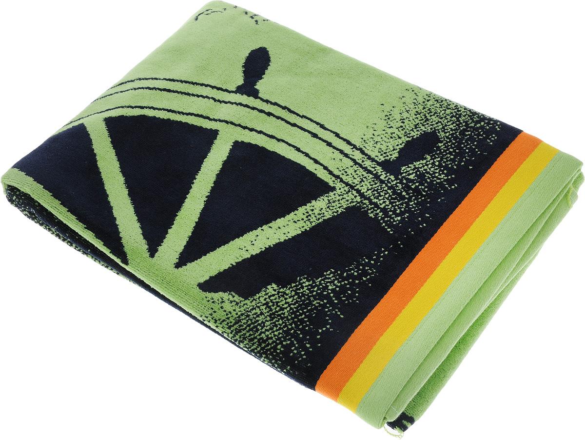 Полотенце пляжное Toalla Навигатор, 90 x 160 см9001495Пляжное полотенце Toalla Навигатор выполнено из 100% натурального египетского хлопка. Изделие оформлено принтом в морской тематике, бордюр украшен цветными полосками. Ткань полотенца обладает высокой плотностью и мягкостью, отличается высоким качеством и длительным сроком службы. В процессе эксплуатации материал становится только мягче и приятнее на ощупь. Египетский хлопок не содержит линта (хлопковый пух), поэтому на ткани не образуются катышки даже после многократных стирок и длительного использования. Сверхдлинные волокна придают ткани характерный красивый блеск. Полотенце отлично впитывает влагу и быстро сохнет. Такое полотенце отлично подойдет для использования дома и на пляже и станет практичным приобретением.