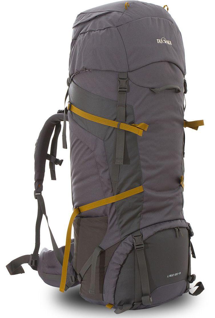 Рюкзак туристический Tatonka Lago 100+16л, цвет: серый, 108x40x34 смDI.6027.021Классический туристический рюкзак большого объема. Рюкзак Lago 100+15 выполенен в строгом дизайне из прочной ткани Textreme 6.6. Два внутренних отделения позволят с удобством разместить все необходимые в походе или путешествии вещи. За счет объемной крышки и расширяющегося основного отделения объем рюкзака достигает 115 литров. Прочная удобная спина рюкзака выполнена с учетом анатомических особенностей спины человека, благодаря этому с рюкзаком будет комфортно идти даже в продолжительном походе. Нижнее и основное отделения рюкзака разделены съемной перегородкой на молнии, одним движением их можно соединить между собой или снова разделить. Доступ в основное отделение осуществляется через верхний расширяющийся вход или через центральны 3D-доступ. Молния 3D-доступа имеет два бегунка, что позволяет легко достать или положить любые конкретные вещи. Молния в нижнее отделение так же оснащена молнией с двумя бегунками. В центральной части рюкзак имеет две прошитых стропы-molle, благодаря...