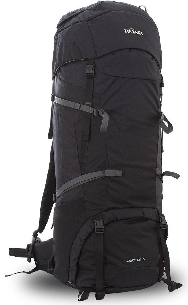 Рюкзак туристический Tatonka Jagos 100+15л, цвет: черный, 100x40x32 смDI.6038.040Классический туристический рюкзак большого объема. Рюкзак Jagos 100+15 выполенен в строгом дизайне из прочной ткани Textreme 6.6. Два внутренних отделения позволят с удобством разместить все необходимые в походе или путешествии вещи. За счет объемной крышки и расширяющегося основного отделения объем рюкзака достигает 115 литров. Прочная удобная спина рюкзака выполнена с учетом анатомических особенностей спины человека, благодаря этому с рюкзаком будет комфортно идти даже в продолжительном походе. Нижнее и основное отделения рюкзака разделены съемной перегородкой на молнии, одним движением их можно соединить между собой или снова разделить. Доступ в основное отделение осуществляется через верхний расширяющийся вход, в нижнее отделение оснащено молнией с двумя бегунками, благодаря чему можно получить доступ к конкретным нужным вещам, не открывая молнию полностью. Преимущества и особенности: Система подвески Y1 Одно основное отделение, уведичивающееся в объеме в верхней части ...