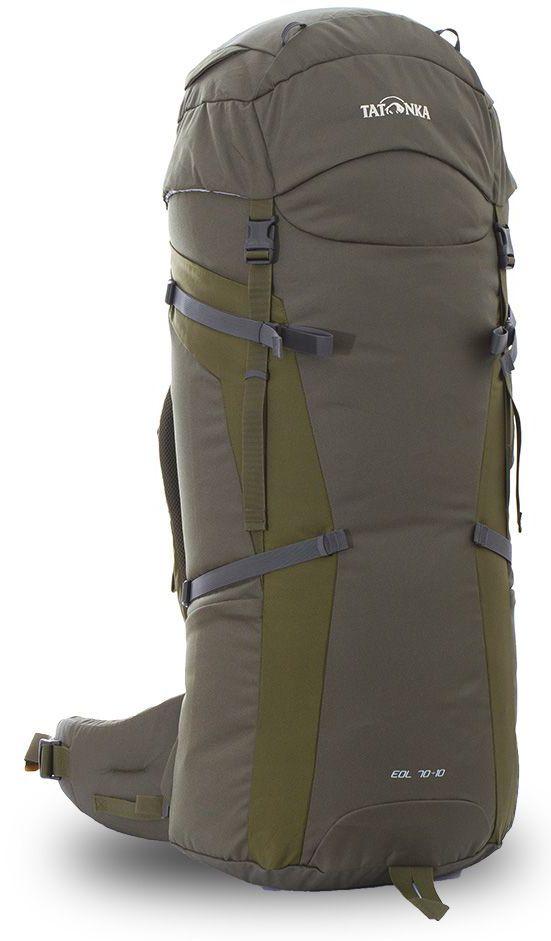 Рюкзак туристический Tatonka Eol 70+10л, цвет: зеленый, 95x32x31 смDI.6057.331Рюкзак для пеших походов и путешествий.