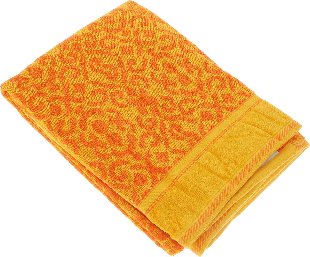 Полотенце махровое Toalla Флора, цвет: оранжевый, желтый, 70 x 140 см9121402Полотенце махровое Toalla Флора выполнено из 100% натурального египетского хлопка. Изделие оформлено изысканным орнаментом. Ткань полотенца обладает высокой плотностью и мягкостью, отличается высоким качеством и длительным сроком службы. В процессе эксплуатации материал становится только мягче и приятнее на ощупь. Египетский хлопок не содержит линта (хлопковый пух), поэтому на ткани не образуются катышки даже после многократных стирок и длительного использования. Сверхдлинные волокна придают ткани характерный красивый блеск. Полотенце отлично впитывает влагу и быстро сохнет. Такое полотенце красиво дополнит интерьер ванной комнаты и станет практичным приобретением.