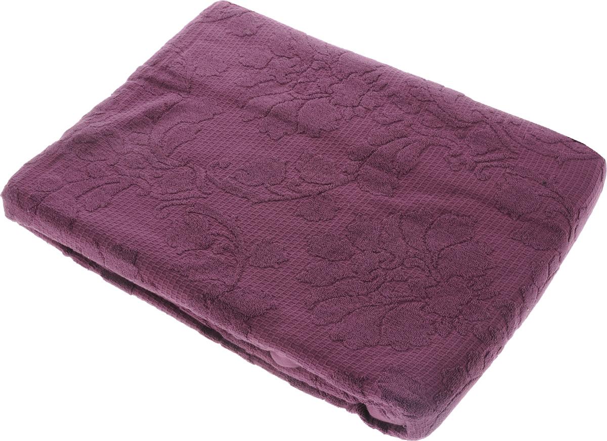 Покрывало махровое Toalla, цвет: фиолетовый, 200 x 220 см9001181