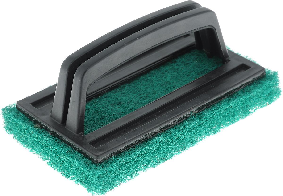 Щетка-скраб Хозяюшка Мила, цвет: зеленый, черный, 15 x 6 x 9 см24005_зеленый, черныйУдобная щетка с абразивным чистящим слоем успешно заменит обычные хозяйственные щетки с щетиной. Пластиковая ручка защищает руки от влаги и механических воздействий. Подходит для очистки сантехники, кафеля, кухонных плит и других поверхностей. Размер щетки: 15 x 6 x 9 см.