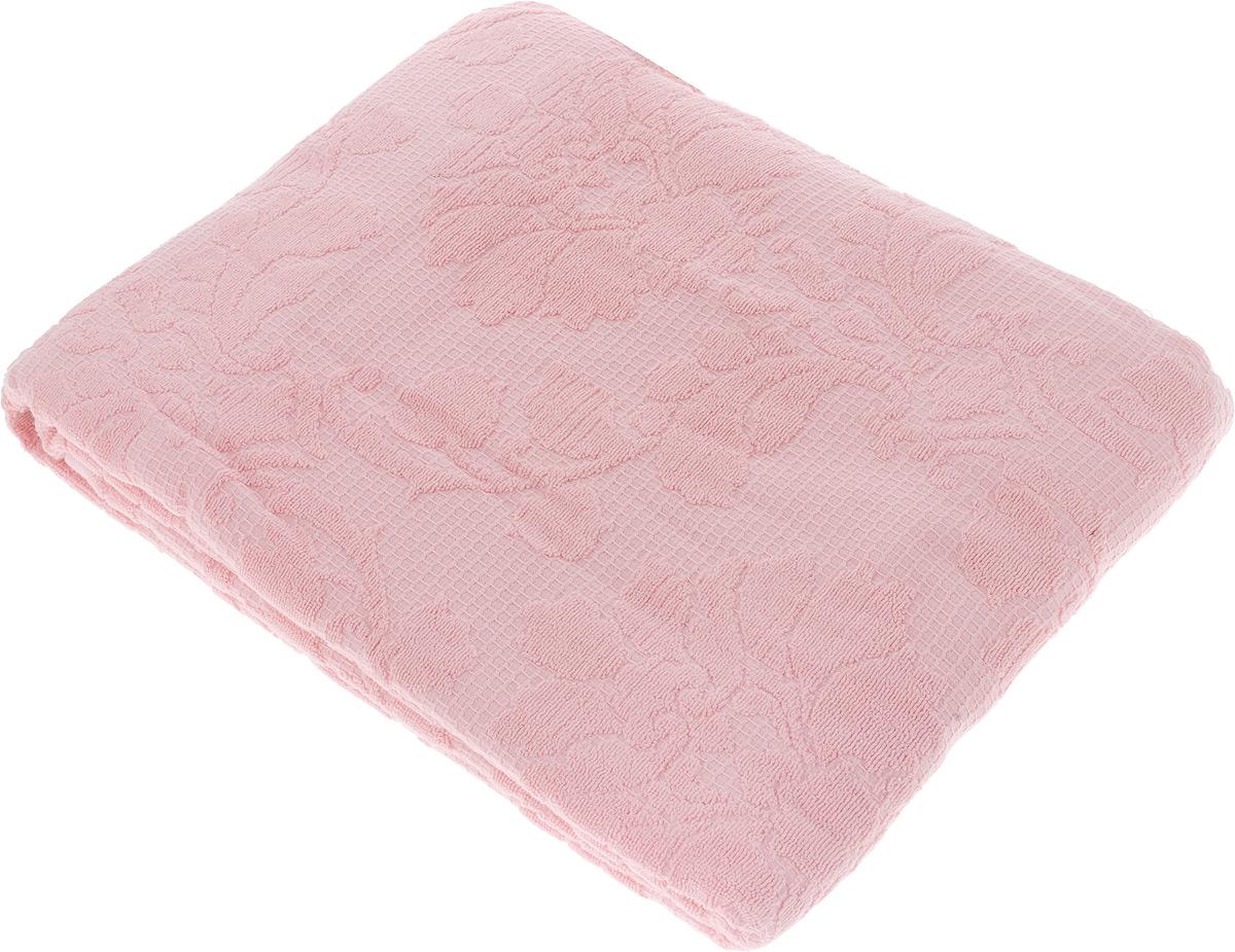 Покрывало махровое Toalla, цвет: розовый, 160 x 200 см9000412Махровое покрывало Toalla выполнено из 100% хлопка и оформлено рельефным цветочным принтом. Ткань покрывала обладает высокой плотностью и мягкостью, отличается высоким качеством и длительным сроком службы. Египетский хлопок не содержит линта (хлопковый пух), поэтому на ткани не образуются катышки даже после многократных стирок и длительного использования. Такое покрывало гармонично впишется в интерьер вашего дома и создаст атмосферу уюта и комфорта.