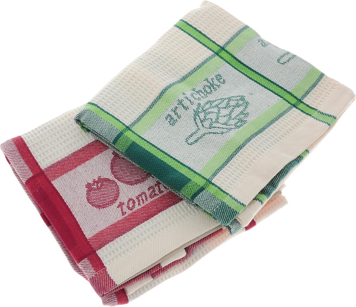 Набор кухонных полотенец Toalla Дача, 40 x 60 см, 2 шт9400435Набор Toalla Дача состоит из двух прямоугольных полотенец, выполненных из 100% хлопка. Ткань полотенец обладает высокой плотностью и мягкостью, отличается высоким качеством и длительным сроком службы. В процессе эксплуатации материал становится только мягче и приятней на ощупь. Египетский хлопок не содержит линта (хлопковый пух), поэтому на ткани не образуются катышки даже после многократных стирок и длительного использования. Сверхдлинные волокна придают ткани характерный красивый блеск. Полотенца отлично впитывают влагу и быстро сохнут. Набор предназначен для использования на кухне и в столовой. олотенца дополнены изящным вышитым бордюром. Набор полотенец Toalla Дача - отличное приобретение для каждой хозяйки.
