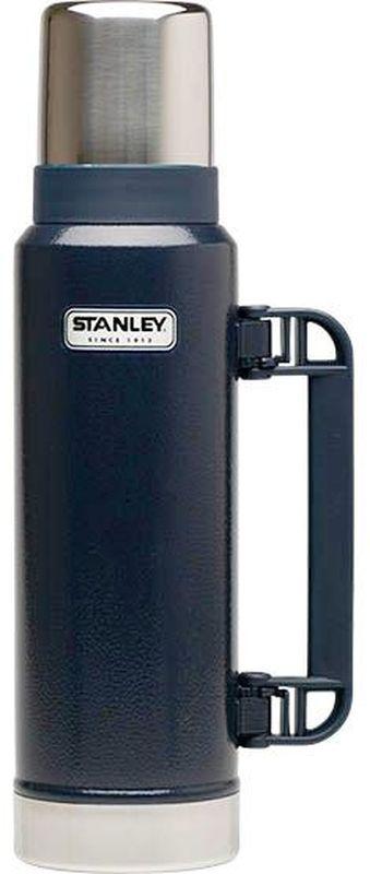 Термос Stanley Classic Vac Bottle Hertiage, 1,3 л, цвет: синий10-01032-043Термос: объем 1,3 Удержание тепла 24 часа, холода 24 часа Вакуумная изоляция Корпус и внyтренняя колба из нержавеющей стали Складная ручка Крышка: термостакан 325 мл Герметичен Цвет: темно-синий Гарантия:Пожизненная