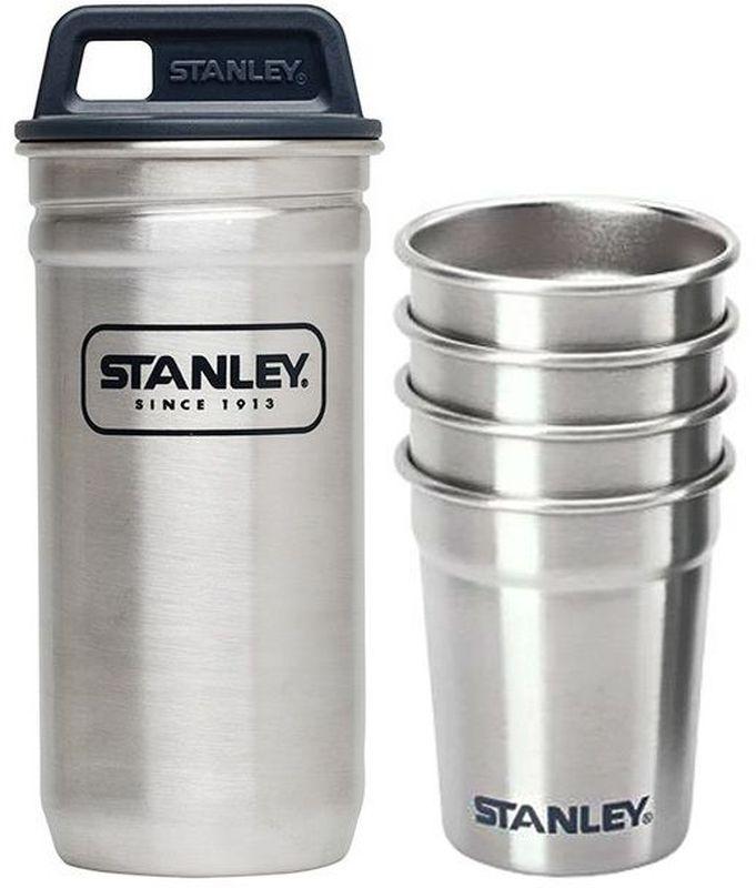 Набор стопок Stanley Adventure 0,59ML, цвет: стальной10-01705-017НАБОР СТОПОК -4 шт.,0.59ML + переносной футляр с ручкой коллеции ADVENTURE из нержавеющей стали,пригоден для мытья в посудомоечной машине. Пожизненая гарантия.