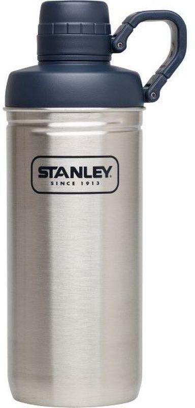 Бутылка для воды Stanley Adventure, 0,62 л, цвет: стальной10-02112-002Бутылка для воды. Сохраняет холод - 1 час, напитки со льдом – 4 часа. Нержавеющая сталь. Интегрированное кольцо-держатель крышки. Цвет - Стальной. Гарантия пожизненная.