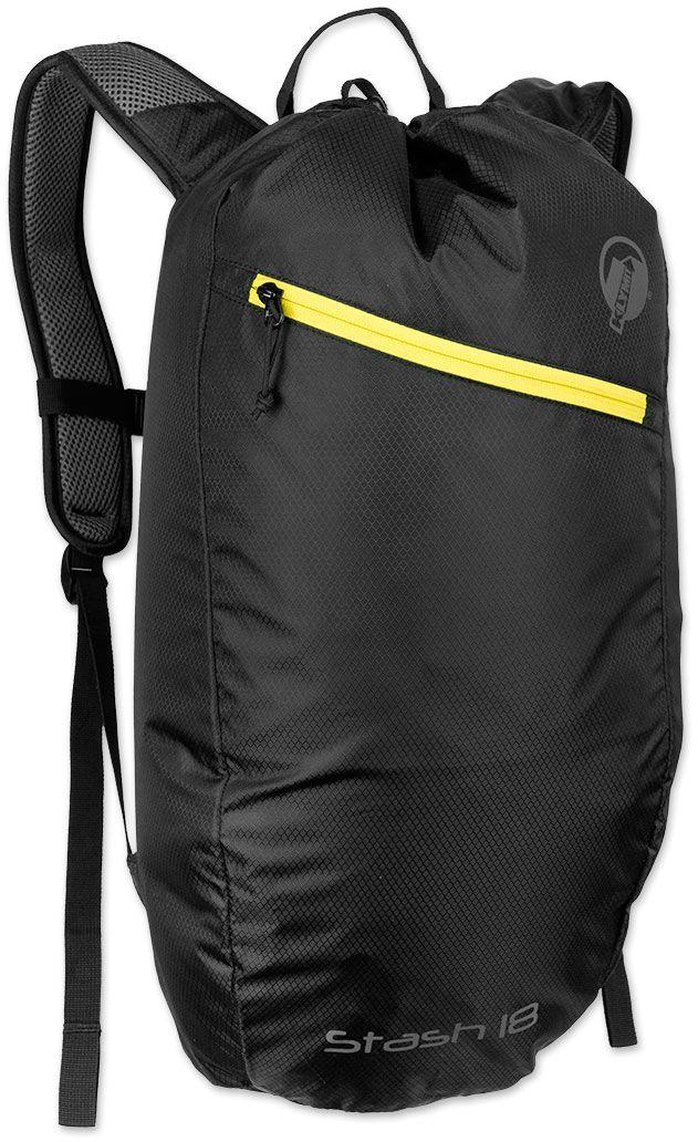Туристический рюкзак Klymit Stash 18, цвет: черный, 18 л12STBK01CТехнология Air Frame (воздушная рамка с сеткой для оптимального распределения воздуха). Объем – 18 литров; Вес – 350 гр; Материал –210D нейло; Нагрузка – 9 кг; Размер – 40X59 см; Цвет – черный. Пожизненная гарантия.