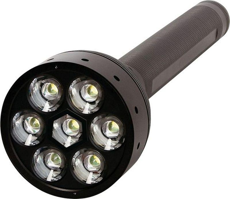 Фонарь LED Lenser X21.2, цвет: черный. 94219421Фонарь повышенной яркости. Световой поток- 1 600 лм. Три режима свечения. Время свечения до 1 лм - 100 часов. Длина - 395 мм. Вес - 1 488 г. Питание - 4 х D (в комплекте). Количество светодиодов - 7. Эффективная дальность свечения – до 600 м. Пластиковый кейс. Система AFS. Система SLT (Умный свет) Упаковка - пластиковый кейс.