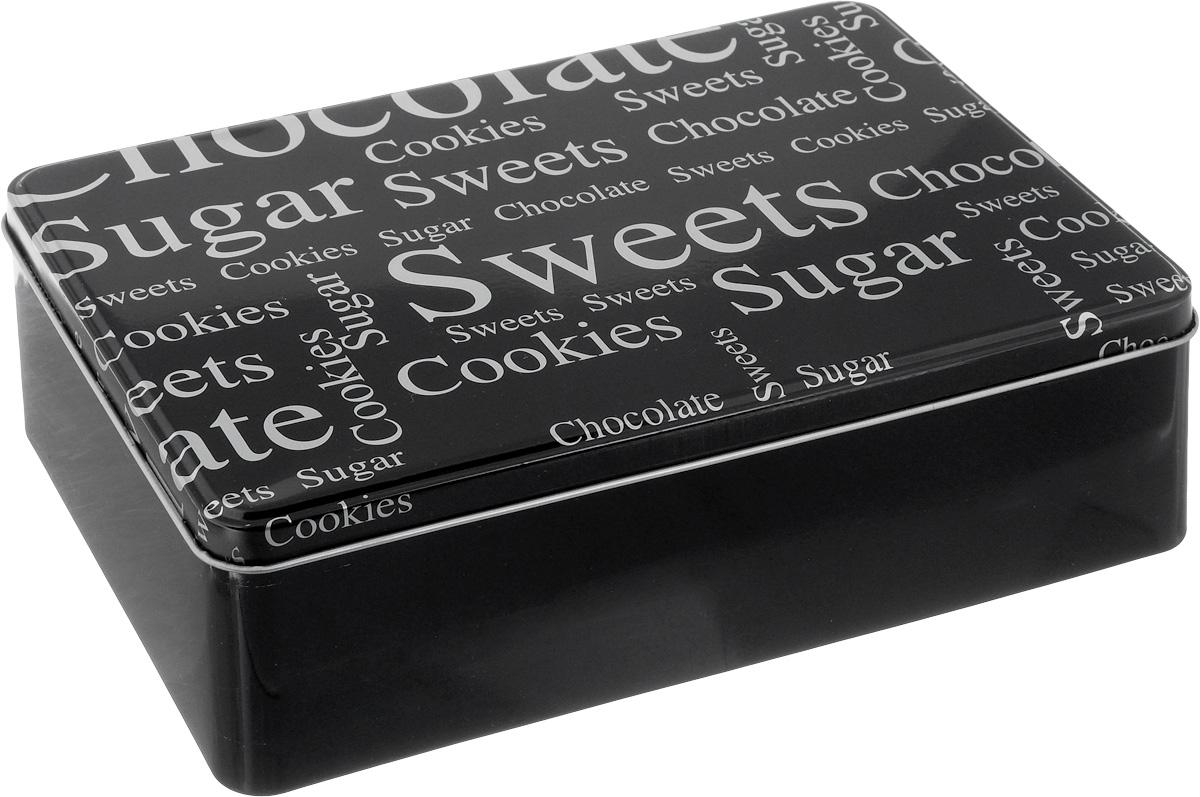Коробка для чайных пакетиков Kesper, цвет: черный, 20 х 13 х 6,5 см3820-8_черныйКоробка для хранения Kesper изготовлена из металла, крышка изделия декорирована надписями. Такая коробка подойдет для хранения чайных пакетиков и любых других бытовых мелочей. Она надежно защитит содержимое от пыли, влаги, грязи и насекомых. Удобная коробка для хранения станет прекрасным приобретением для кухни. Размер коробки: 20 х 13 х 6,5 см.