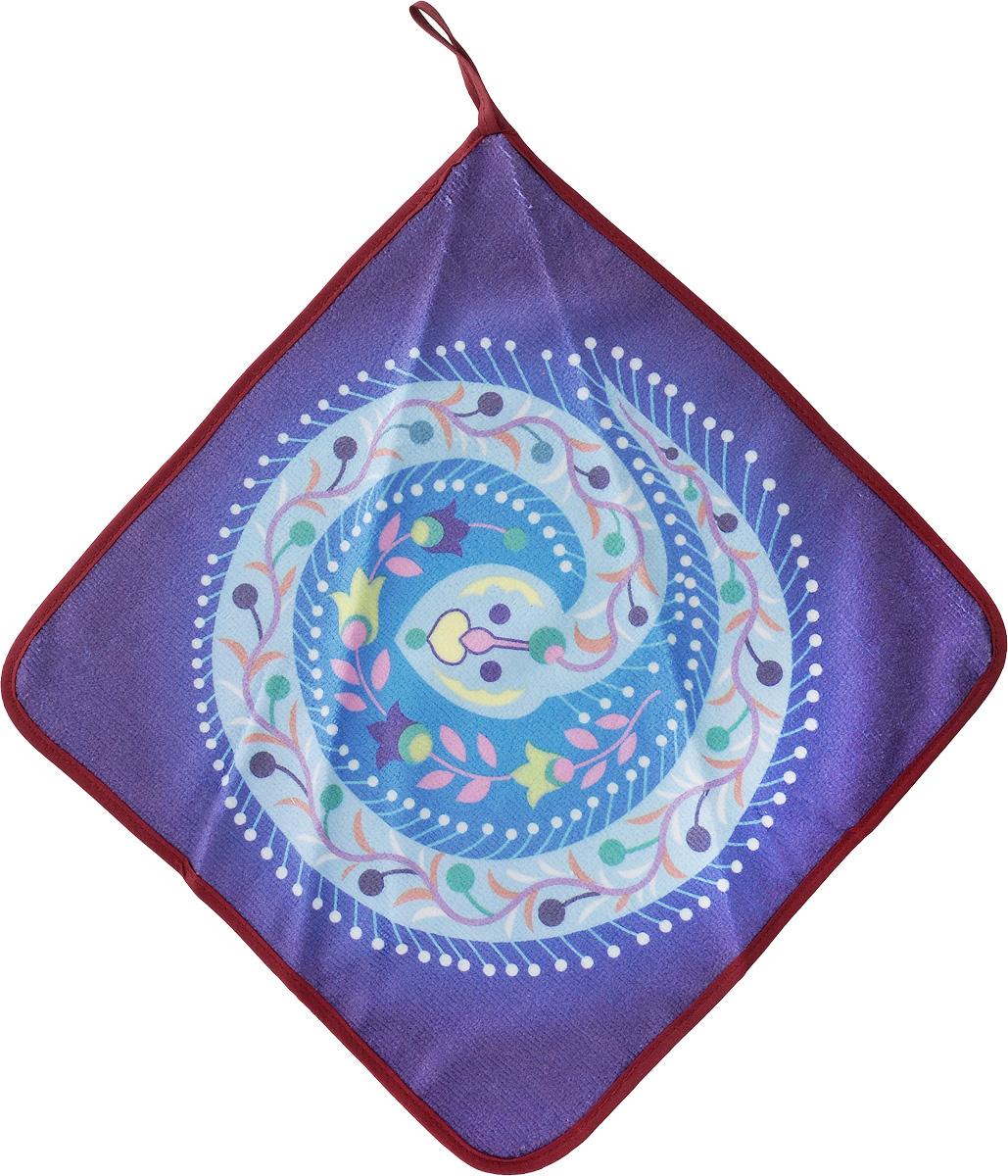Салфетка кухонная Soavita, из микрофибры, цвет: фиолетовый, 30 х 30 см. 8756687566_фиолетовыйСалфетка Soavita выполнена из микрофибры. Идеально подходит для сухой и влажной чистки. Полностью удаляет воду, не оставляя следа. В сухом виде подходит для деликатных поверхностей: стекол, зеркал, оптики, мониторов, мебели, бытовой техники и многого другого. Во влажном виде незаменима на кухне, в ванной, в уходе за автомобилем. Изделие оснащено петелькой для подвешивания на крючок. Перед использованием постирать при температуре не выше +40°С.