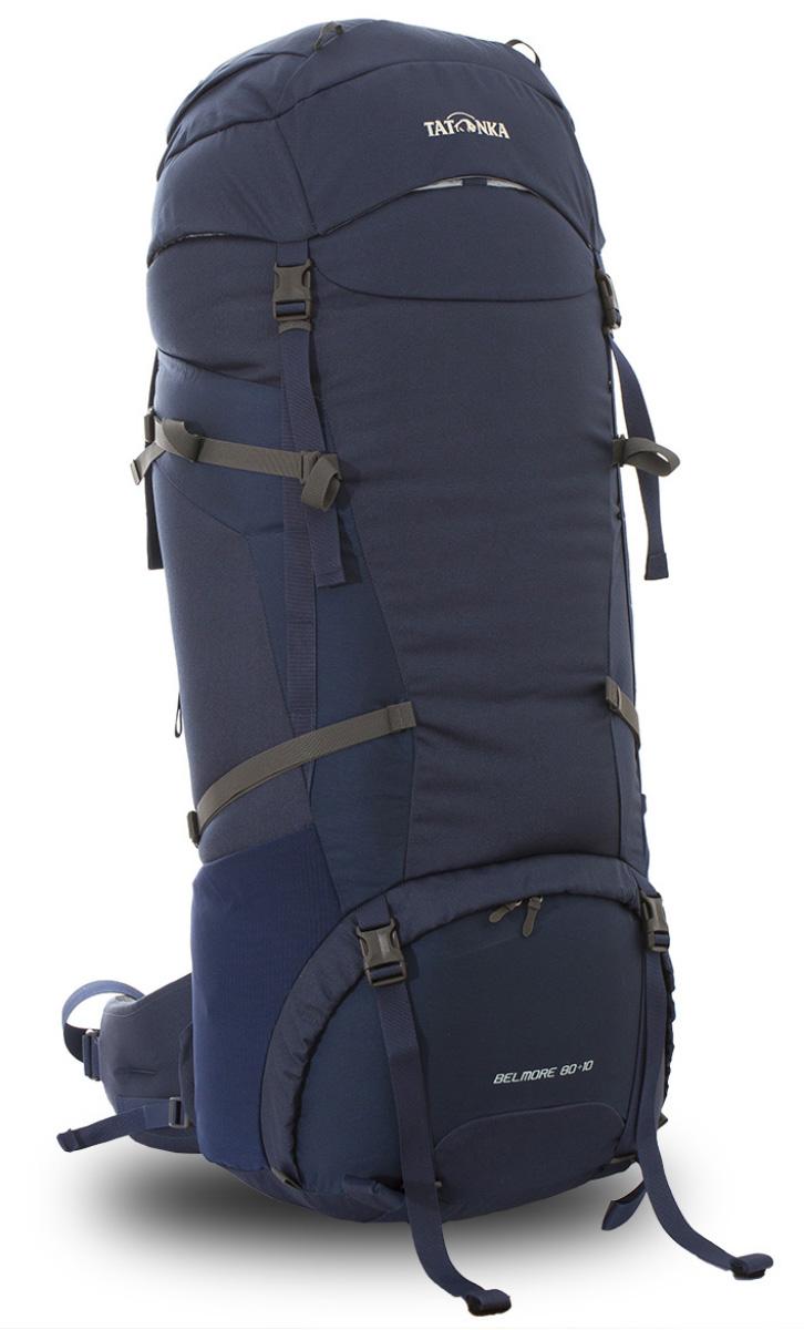 Рюкзак туристический Tatonka Belmore 80+10л, цвет: темно-синий, 97x35x31 смDI.6036.004Классический туристический рюкзак среднего объема. Рюкзак Belmore 80+10 выполенен в строгом дизайне из прочной ткани Textreme 6.6. Два просторных отделения позволит с удобством разместить все необходимые в походе или путешествии вещи. За счет объемной крышки и расширяющегося основного отделения объем рюкзака достигает 90 литров. Прочная удобная спина рюкзака выполнена с учетом анатомических особенностей спины человека, благодаря этому с рюкзаком будет комфортно идти даже в продолжительном походе. Нижнее и основное отделения рюкзака разделены съемной перегородкой на молнии, одним движением их можно соединить между собой или снова разделить. Доступ в основное отделение осуществляется через верхний расширяющийся вход, а нижнее отделение оснащено молнией с двумя бегунками, благодаря чему можно получить доступ к конкретным нужным вещам, не открывая молнию полностью. Преимущества и особенности: Система подвески Y1 Одно основное отделение, увеличивающееся в объеме в верхней части ...
