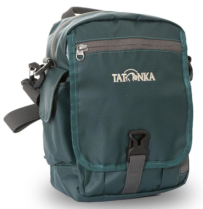 Сумка плечевая Tatonka Check in XT CLIP, цвет: темно-зеленый, 23x17x8 смDI.2967.190Городская сумка для документов, ключей и кошелька
