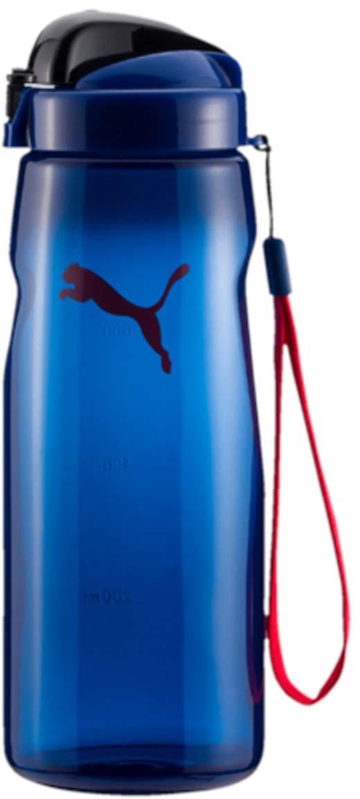 Бутылка для воды Puma Lifestyle Water Bottle, цвет: синий. 05284110. 780 мл05284110Бутылка для воды Lifestyle Water Bottle будет по достоинству оценена ведущими активный образ жизни людьми. Выполненная из качественных материалов, она оснащена удобным для питья носиком и ручкой для удобства транспортировки. Незаменима для спортсменов, занимающихся в спортивных залах и на свежем воздухе, бегунов, атлетов. Бутылка рассчитана на жидкости, температура которых не превышает 50°C. Оформлена логотипом Puma Cat.