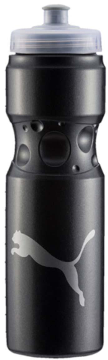 Бутылка для воды Puma Tr Bottle Sport, цвет: черный. 05314501. 750 мл05314501Эргономичная бутылка для воды с закручивающейся крышкой и герметичным клапаном с делениями на корпусе – отличный спутник твоих тренировок. У модели герметичный клапан, деления на корпусе бутылки и логотип бренда.