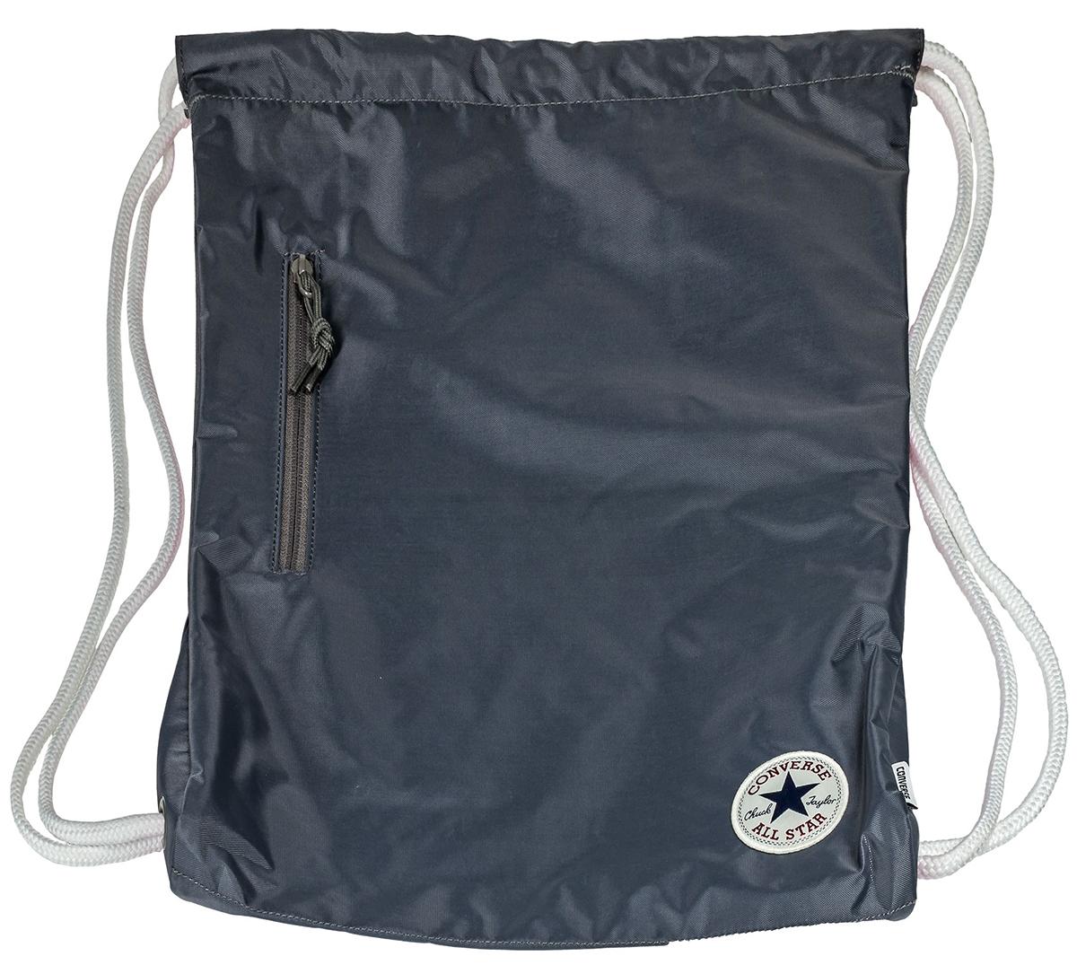 Рюкзак Converse, цвет: серый. 1000334001010003340010Спортивный рюкзак Converse выполнен из текстиля. Модель с одним отделением на затягивающемся шнурке и тонких лямках.