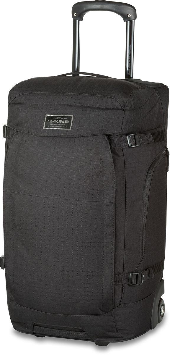 Сумка дорожная на колесах Dakine Sherpa Roller Black, цвет: черный, 60 л. 1000045600116836 10000456Дорожная сумка на колесах, с выдвижной ручкой. Имеются скрытые лямки для переноски в условиях бездорожья.