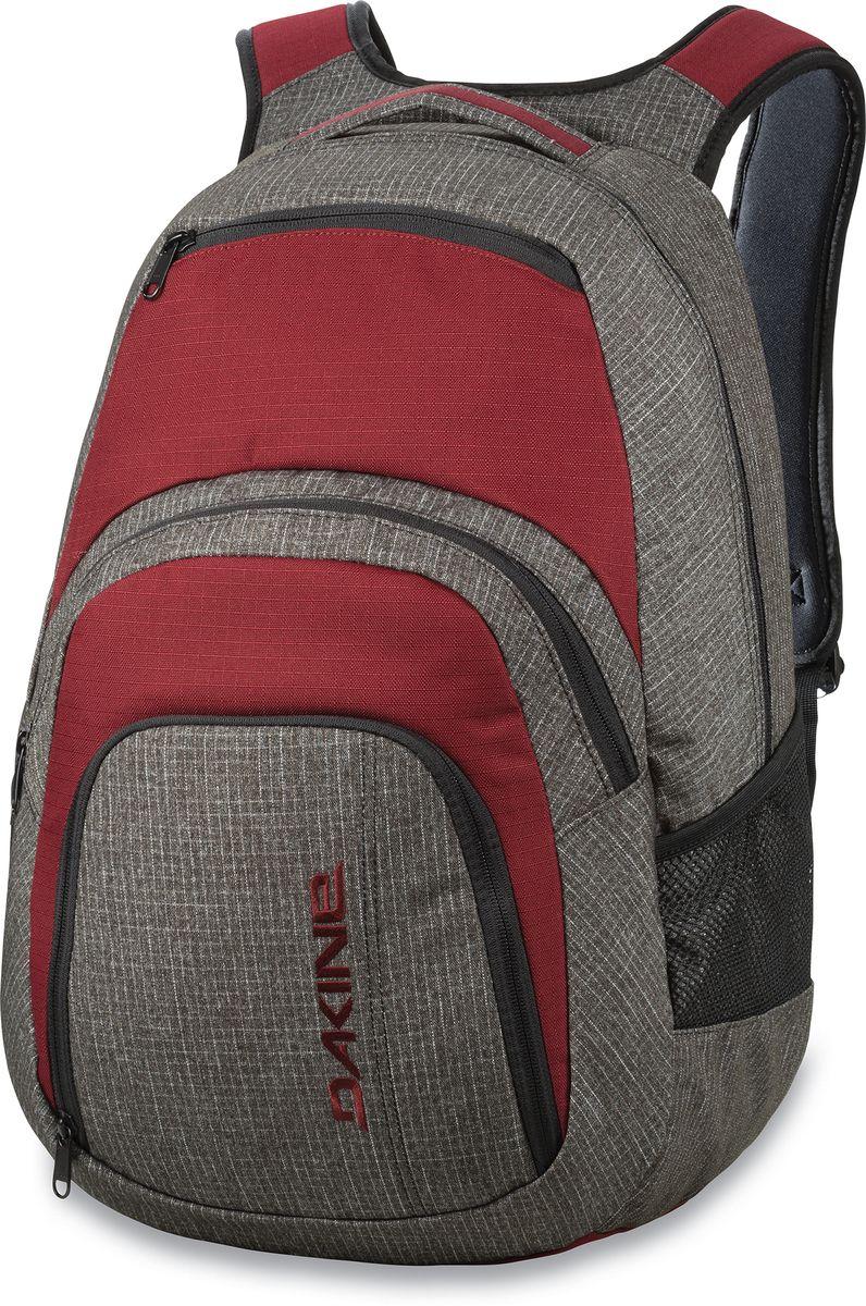 Рюкзак городской Dakine Campus Willamette, цвет: серый, 33 л. 813005700121600 8130057Городской рюкзак с отделением для ноутбука ( до 15). Карман-органайзер, карман-термос, карман-сетка снаружи. Карман для очков из мягкого флиса.