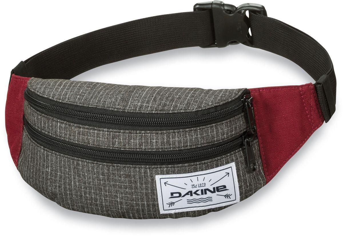 Сумка поясная Dakine Classic Hip Pack Willamette, цвет: серый, 0,6 л. 813020500121657 8130205Поясная сумка с двумя отделениями. Регулируемый поясной ремень.