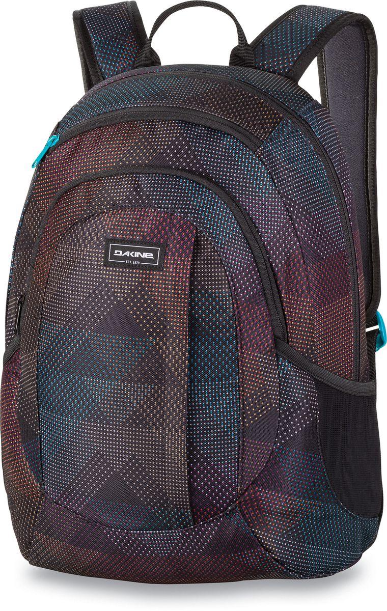 Рюкзак женский Dakine Garden Stella, цвет: черный, 20 л. 1000075100127230 10000751Городской женский рюкзак с отделением для ноутбука ( до 14) Карман для очков из мягкого флиса, карман-органайзер, боковые карманы из сетки.