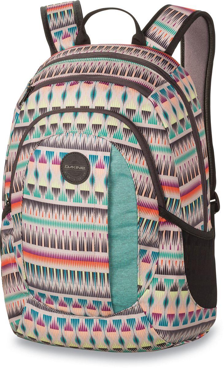 Рюкзак женский Dakine Garden Zanzibar, цвет: мультиколор, 20 л. 1000075100127233 10000751Городской женский рюкзак с отделением для ноутбука ( до 14) Карман для очков из мягкого флиса, карман-органайзер, боковые карманы из сетки.