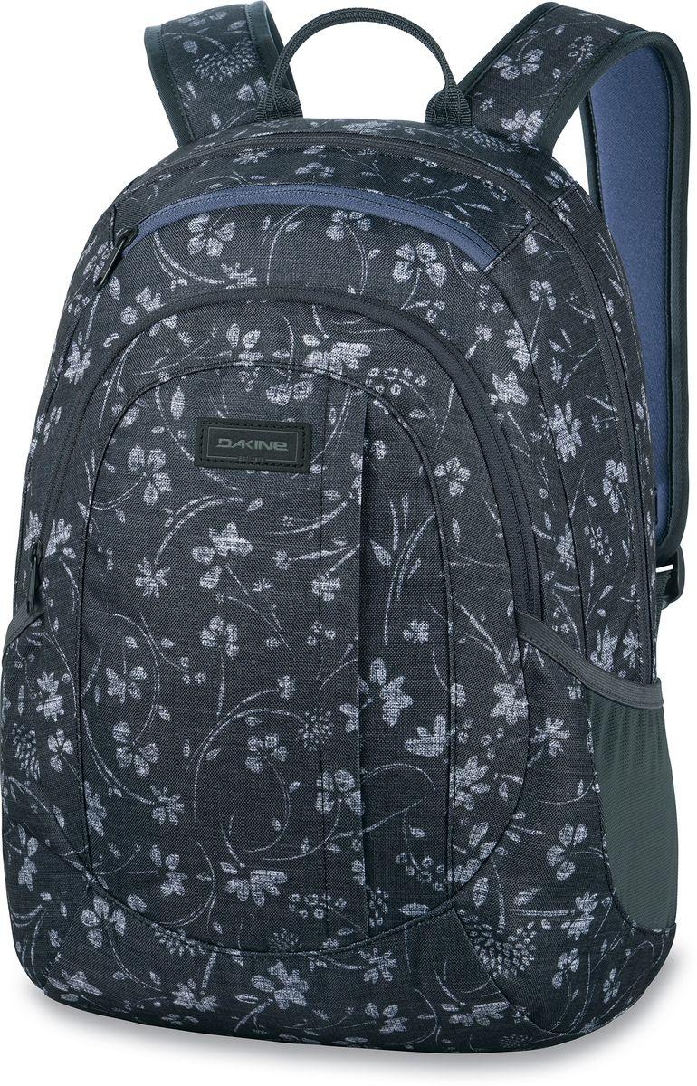 Рюкзак женский Dakine Garden Vero, цвет: черный, 20 л. 1000075100127232 10000751Городской женский рюкзак с отделением для ноутбука ( до 14) Карман для очков из мягкого флиса, карман-органайзер, боковые карманы из сетки.