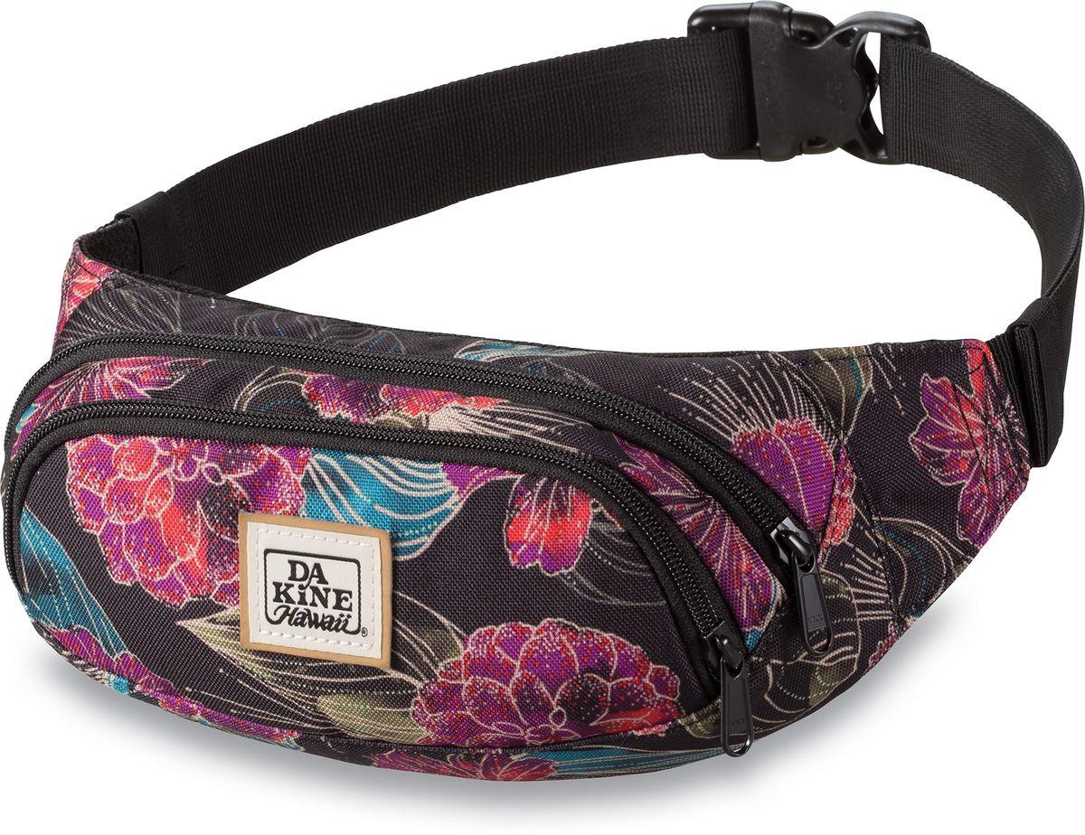 Сумка поясная женская Dakine Hip Pack Pualani, цвет: мультиколор, 0,6 л. 821030000127356 8210300Поясная сумка с двумя отделениями. Регулируемый поясной ремень.