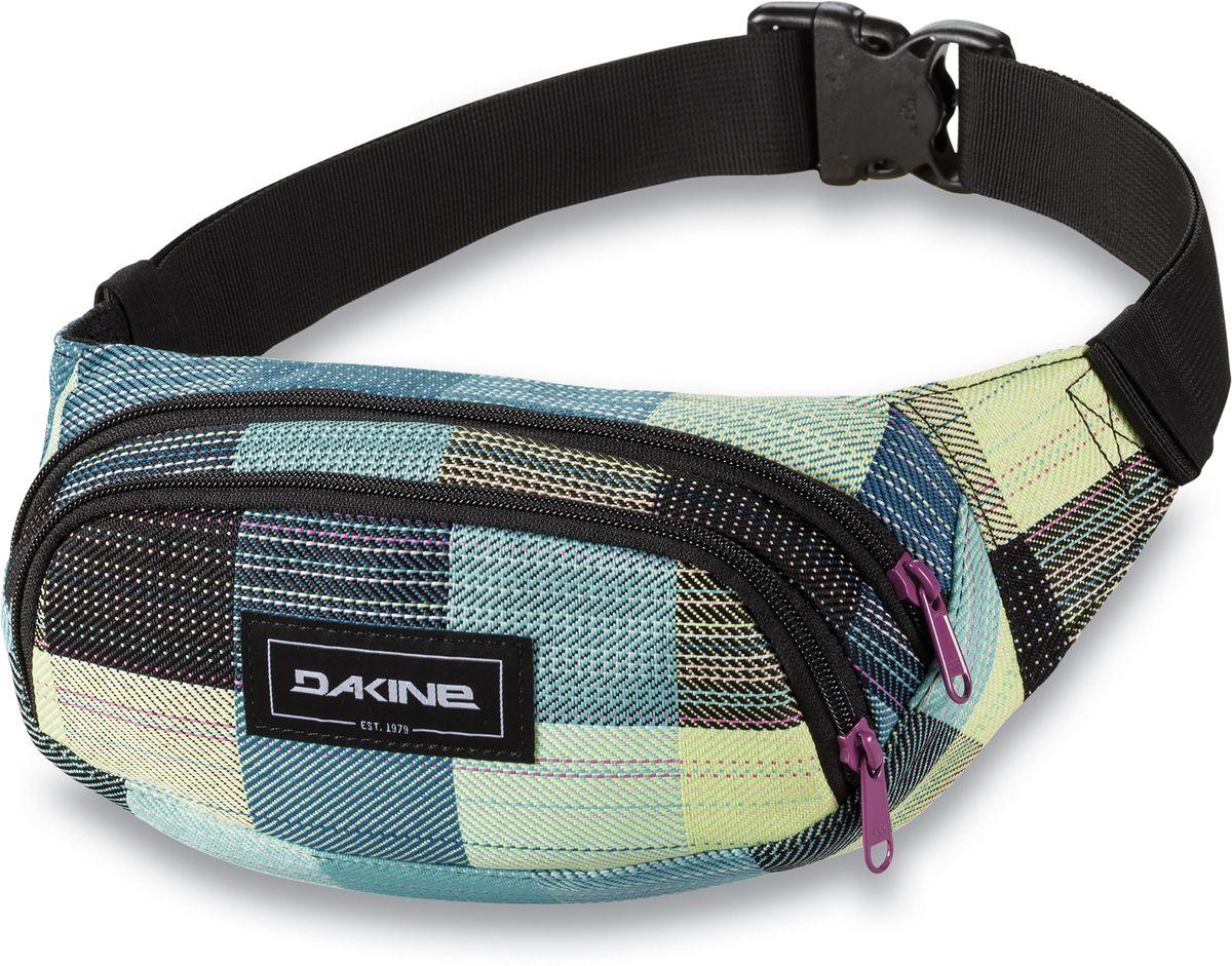 Сумка поясная женская Dakine Hip Pack Luisa, цвет: светло-зеленый, 0,6 л. 821030000127355 8210300Поясная сумка с двумя отделениями. Регулируемый поясной ремень.
