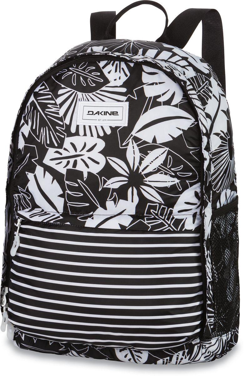 Рюкзак женский Dakine Stashable Backpack Inkwell, цвет: белый, 20 л. 835047100127342 8350471Легкий рюкзак, складывается в маленький мешочке с карабином.