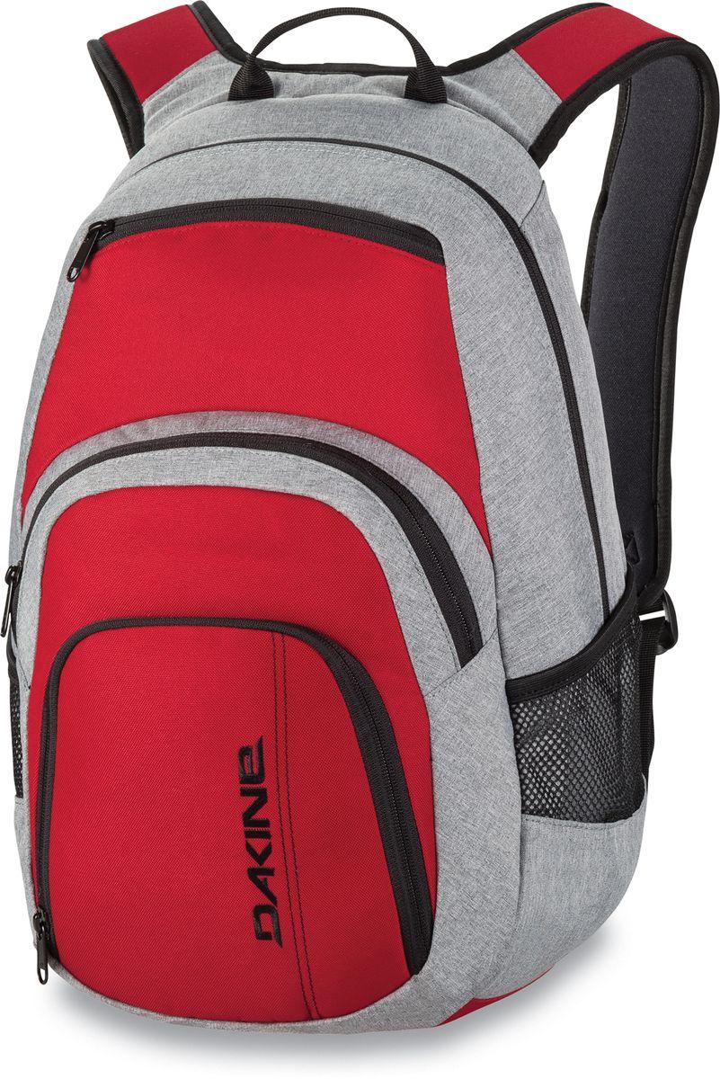 Рюкзак городской Dakine Campus Red, цвет: красный, 25 л. 813005600127042 8130056Городской рюкзак с отделением для ноутбука ( до 14). Карман-органайзер, карман-термос, карман-сетка снаружи. Карман для очков из мягкого флиса.