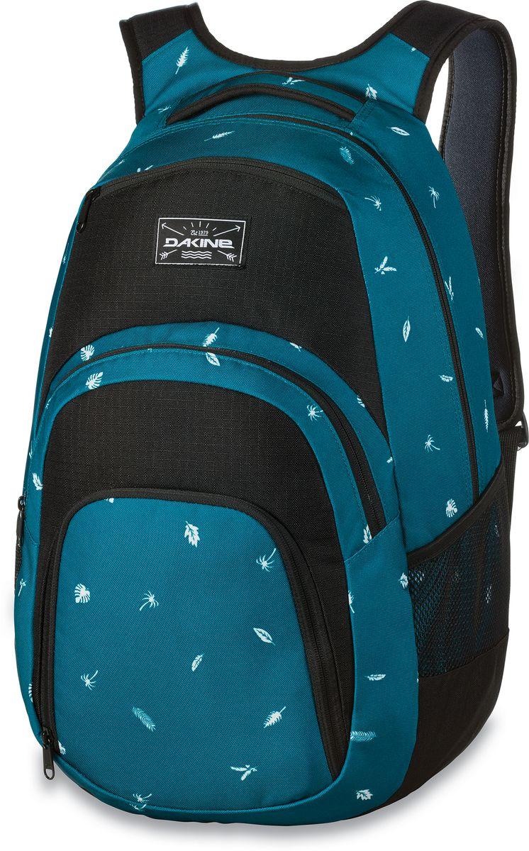 Рюкзак городской Dakine Campus Dewilde, цвет: бирюзовый, 33 л. 813005700127029 8130057Городской рюкзак с отделением для ноутбука ( до 15). Карман-органайзер, карман-термос, карман-сетка снаружи. Карман для очков из мягкого флиса.