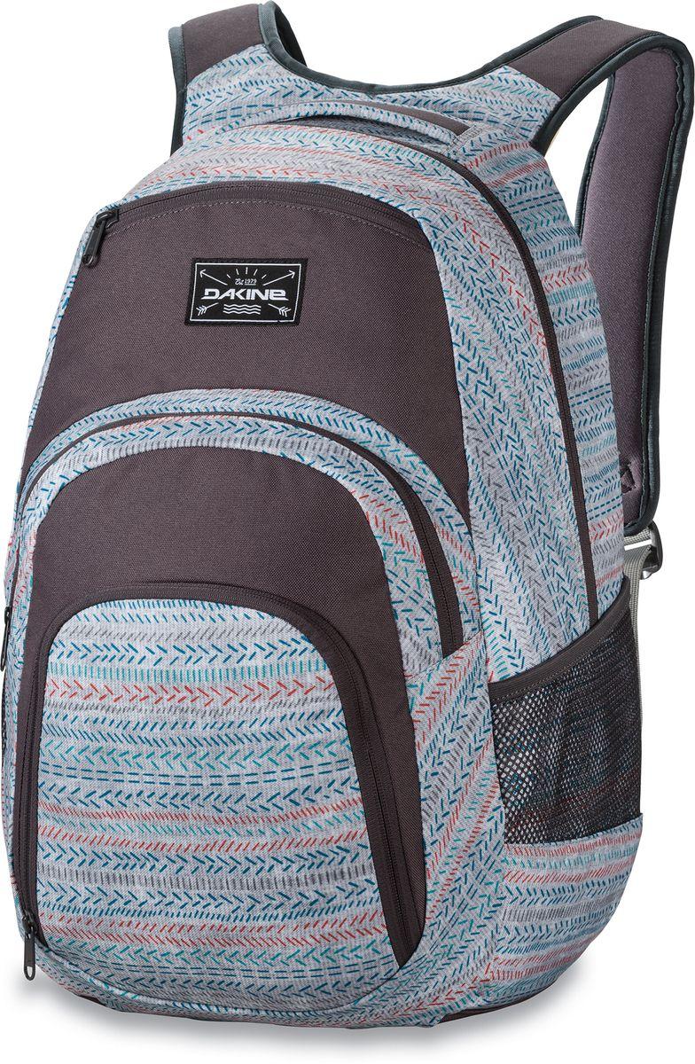 Рюкзак городской Dakine Campus Tracks, цвет: светло-серый, 33 л. 813005700127037 8130057Городской рюкзак с отделением для ноутбука ( до 15). Карман-органайзер, карман-термос, карман-сетка снаружи. Карман для очков из мягкого флиса.
