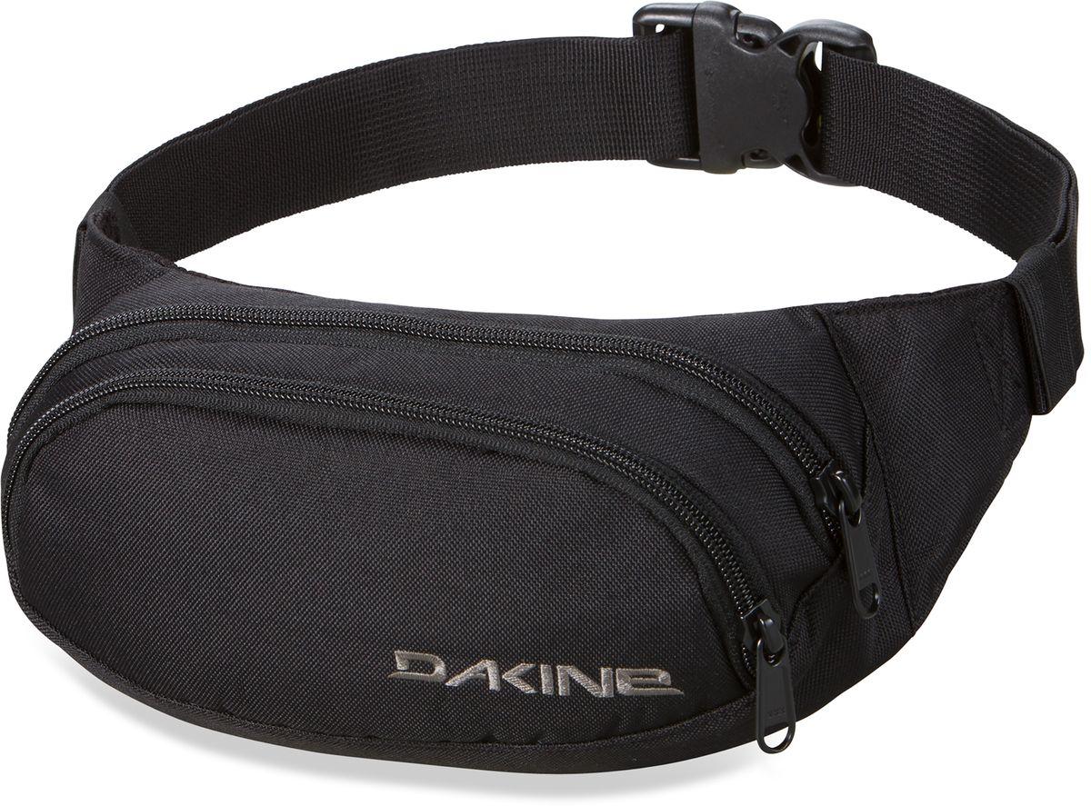 Сумка поясная Dakine W16 Hip Pack Black, цвет: черный, 0,6 л. 813020000107838 8130200Поясная сумка с двумя отделениями. Регулируемый поясной ремень.