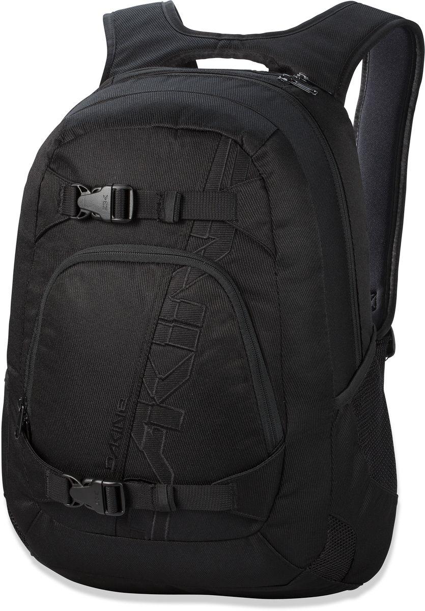 Рюкзак городской Dakine W16 Explorer Black, цвет: черный, 26 л. 813005000108378 8130050Городской рюкзак. Однообъемный. С карманом для ноутбука ( до 15) и внешним карманом-органайзером. Лямки для переноски скейта. Карман для солнцезащитных очков.