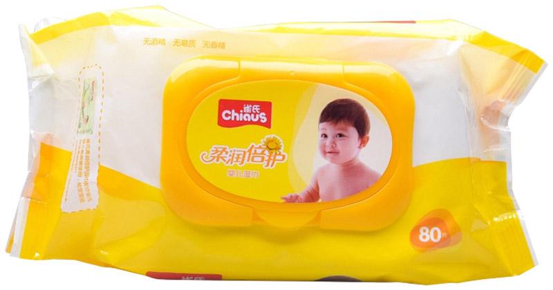 Chiaus Влажные салфетки детские 80 шт6941326202409Детские влажные гигиенические салфетки Chiaus представляют собой одноразовые, пропитанные антибактериальным раствором полотенца, которые изготовлены из мягкого и плотного нетканого материала, устойчивого к деформации и истиранию. Салфетки Chiaus гипоаллергенны, не вызывают раздражения и подходят даже для чувствительной кожи младенцев. Увлажняющий гипоаллергенный лосьон, пропитывающий салфетки, предотвращает сухость кожи малыша. Чтобы предотвратить аллергические реакции, в состав влажных салфеток Chiaus не входит спирт, асептические средства, флуоресцентные агенты и неочищенная вода. Ароматические добавки, входящие в состав, состоят из натуральных природных компонентов и прошли контроль качества на соответствие требованиям безопасности изделий для детей.