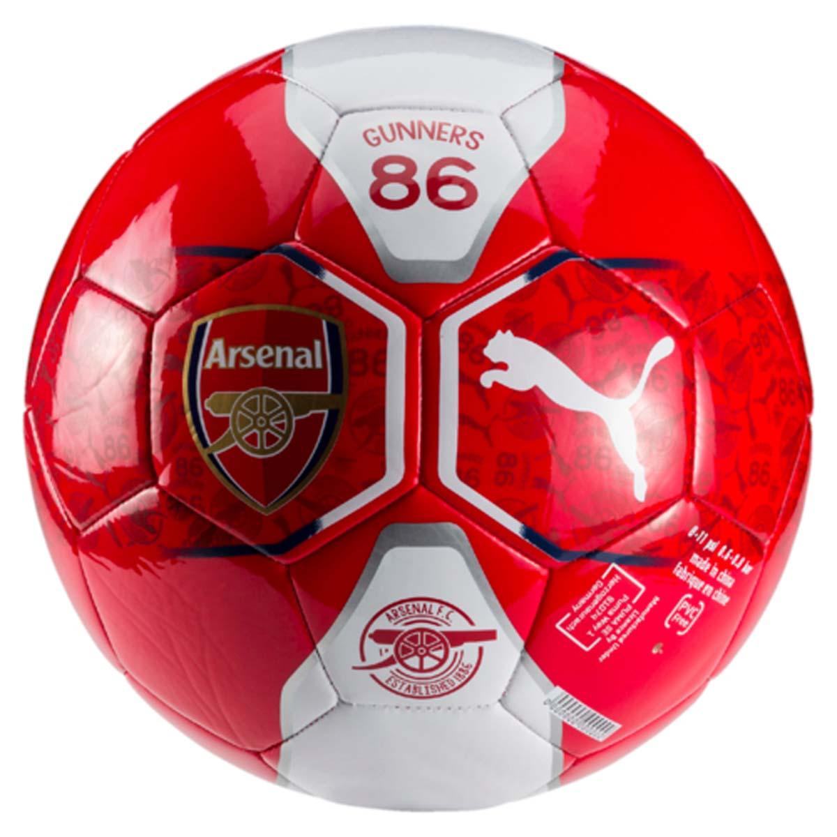 Мяч футбольный Puma Arsenal Fan Ball, цвет: красный. 08274201. Размер 508274201