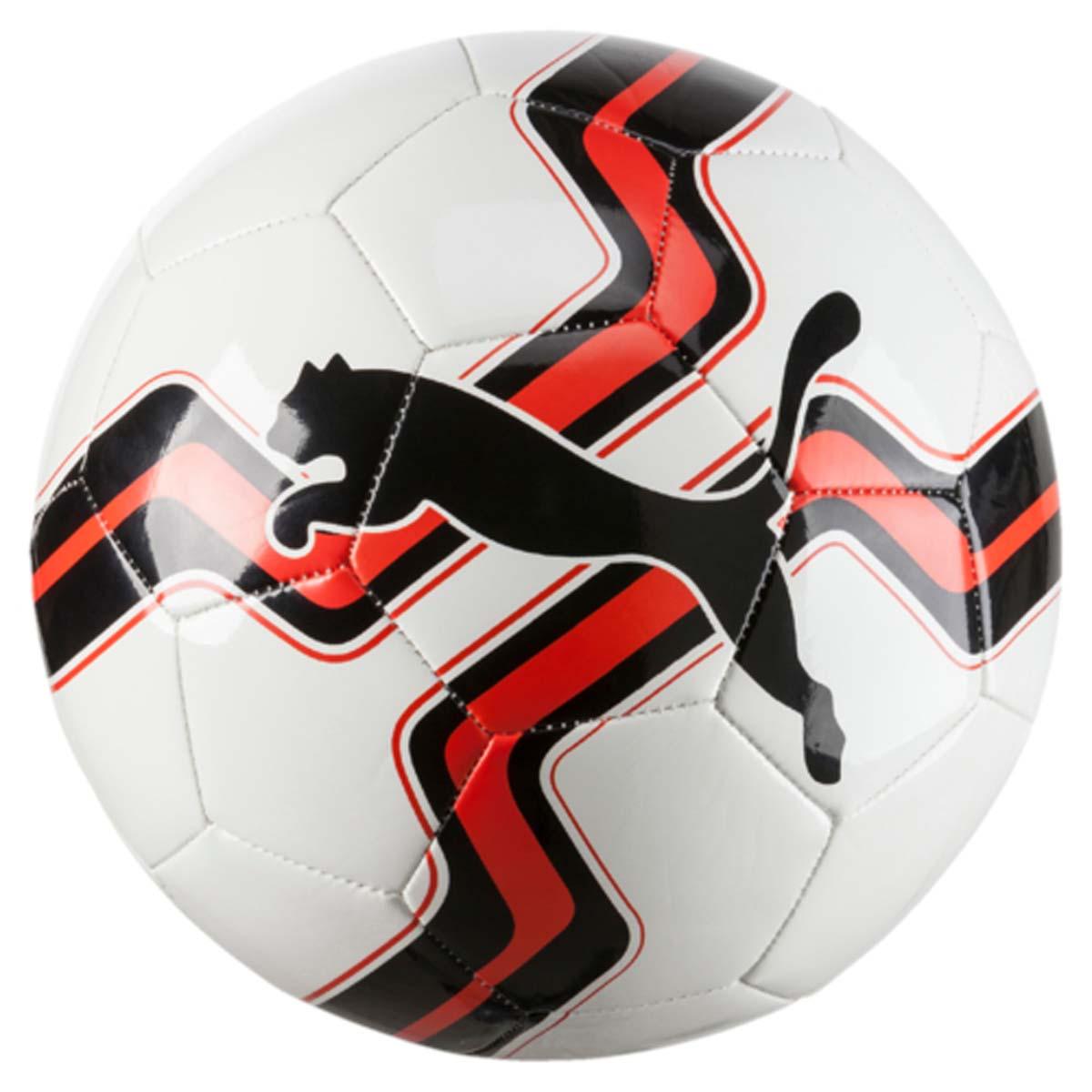 Мяч футбольный Puma Big Cat Ball, цвет: белый, красный. 08275802. Размер 5