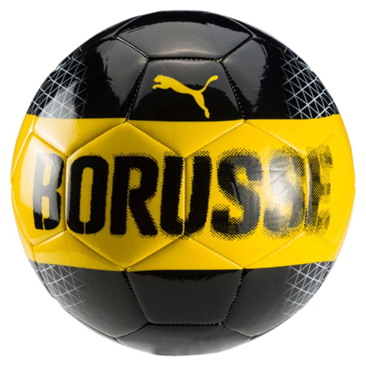 Мяч футбольный Puma Bvb Fan Ball, цвет: черный, желтый. 08274501. Размер 5