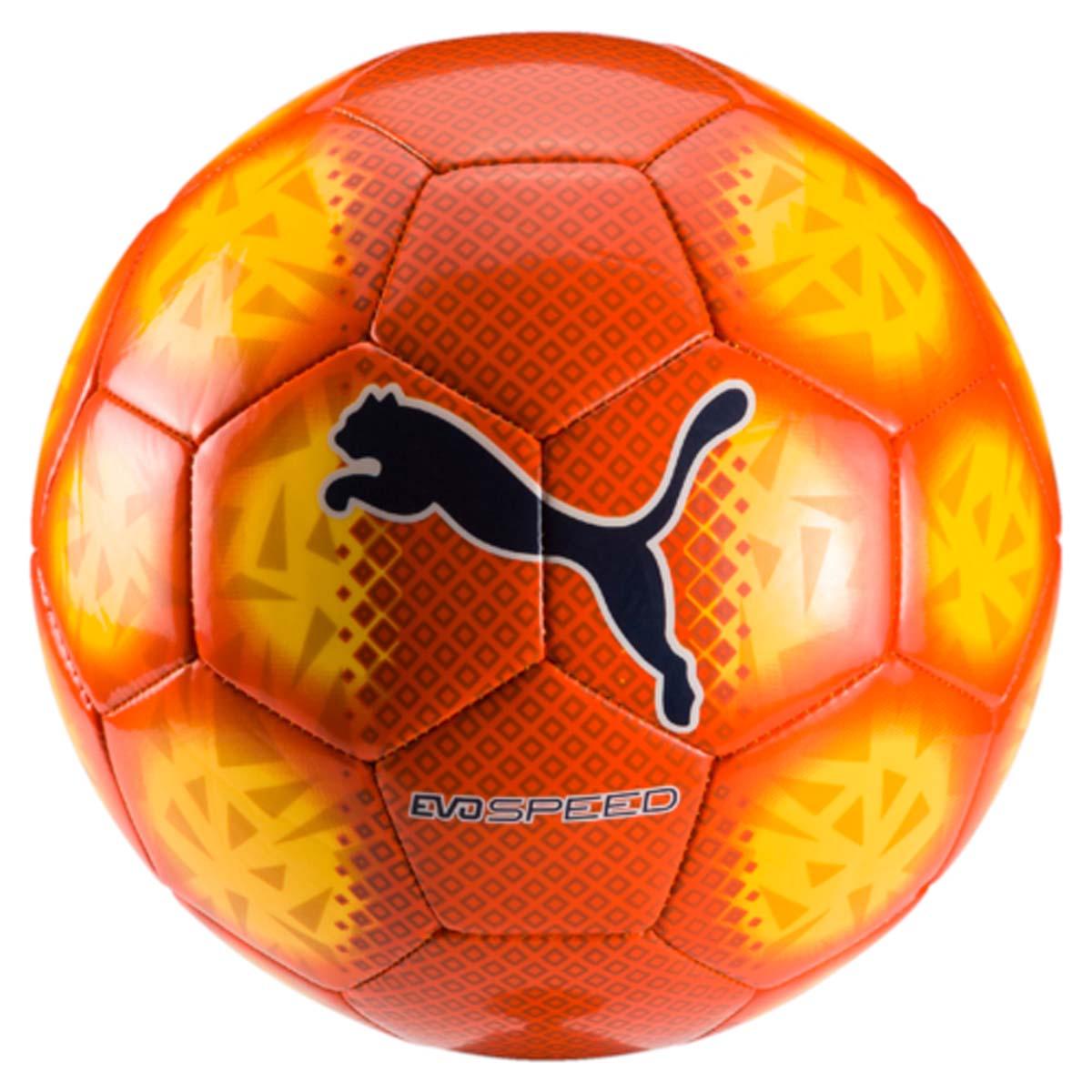 Мяч футбольный Puma Evospeed 5.5 Fade Ball, цвет: оранжевый. 08265806. Размер 5