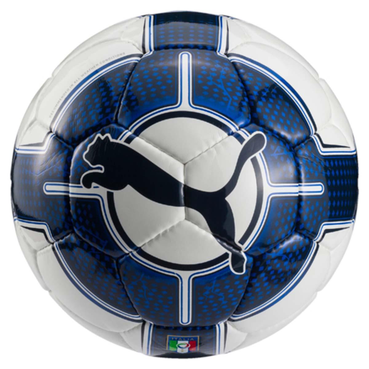 Мяч футбольный Puma Italia Evopower Vigor 5.3HS, цвет: синий, белый. 08277601. Размер 5