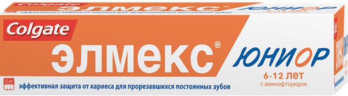 Colgate Детская зубная паста Элмекс Юниор, для детей 6-12 лет, 75 мл267175 / 282865Зубная паста Элмекс Юниор укрепляет эмаль и защищает от кариеса вновь прорезавшиеся постоянные зубы. Предназначена для ежедневной гигиены полости рта детей в возрасте 6-12 лет с целью обеспечения длительной защиты от кариеса, снижения растворимости и укрепления зубной эмали. Товар сертифицирован.