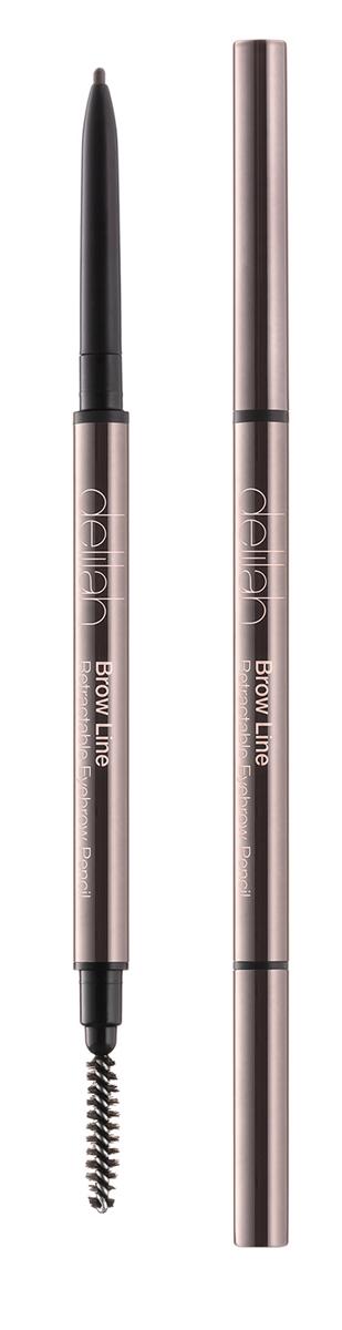 Delilah Карандаш для бровей тон Sable, 0,08 грDLL1002Брови – очень важная часть лица, они обрамляют глаза и являются завершающим элементом, создающим впечатление ухоженности. Brow Line – это выдвижной карандаш, который очень просто использовать. Его тонкий кончик позволяет легко нарисовать четко очерченные, но естественного вида брови. Грифель карандаша довольной жесткий, поэтому линия получается мягкой и похожей на натуральные волоски. На другом конце находится встроенная щеточка, с которой идеальные брови - не проблема.