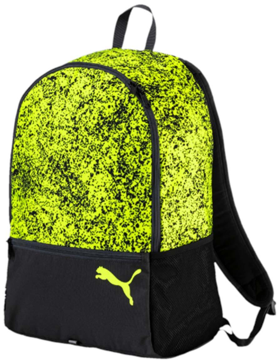 Рюкзак Puma Alpha Backpack, цвет: зеленый. 0744330407443304Рюкзак Puma выполнен из текстиля. Модель с одним отделением, спереди имеется карман на молнии, по боковым сторонам сетчатые карманы. Рюкзак оснащен регулируемыми по длине плечевыми лямками и петлей для подвешивания.
