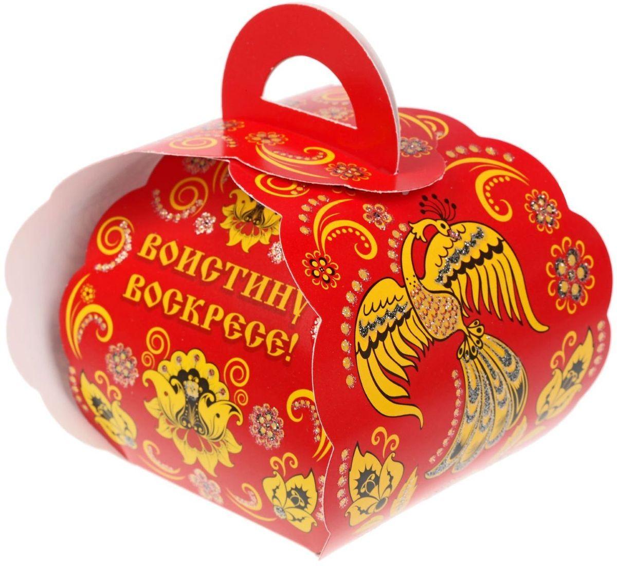 Коробочка подарочная для яйца ХВ под хохлому. 11938381193838Коробочка подарочная для яйца — новое веяние в мире подарочной упаковки. Представьте, как здорово будет преподнести родным и близким подарки в таком оформлении. Душевный дизайн в народном стиле и пасхальные символы никого не оставят равнодушным. Коробочка надёжна и легка в использовании. Согните её по линиям и положите внутрь заготовленный презент. Благодаря удобной ручке изделие удобно переносить. Размер заготовки: 13,4 х 26,2 см.