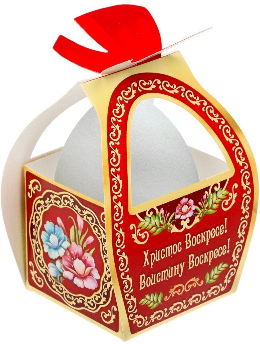 Коробочка подарочная для яйца Христос Воскресе! Жостово. 17469781746978Коробочка подарочная для яйца — новое веяние в мире подарочной упаковки. Представьте, как здорово будет преподнести родным и близким подарки в таком оформлении. Душевный дизайн в народном стиле и пасхальные символы никого не оставят равнодушным. Коробочка надёжна и легка в использовании. Согните её по линиям и положите внутрь заготовленный презент. Благодаря удобной ручке изделие удобно переносить. Размер заготовки: 13,4 х 26,2 см.