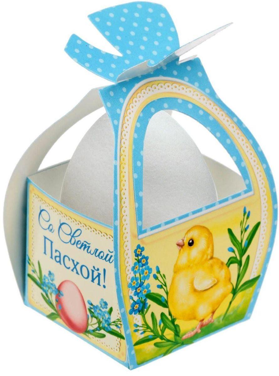 Коробочка подарочная для яйца Со Светлой Пасхой. Цыплята. 17469821746982Коробочка подарочная для яйца — новое веяние в мире подарочной упаковки. Представьте, как здорово будет преподнести родным и близким подарки в таком оформлении. Душевный дизайн в народном стиле и пасхальные символы никого не оставят равнодушным. Коробочка надёжна и легка в использовании. Согните её по линиям и положите внутрь заготовленный презент. Благодаря удобной ручке изделие удобно переносить. Размер заготовки: 13,4 х 26,2 см.