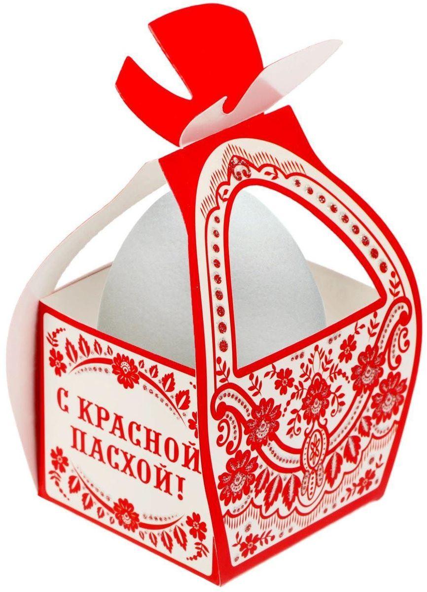 Коробочка подарочная для яйца С красной пасхой!. 17469881746988Коробочка подарочная для яйца — новое веяние в мире подарочной упаковки. Представьте, как здорово будет преподнести родным и близким подарки в таком оформлении. Душевный дизайн в народном стиле и пасхальные символы никого не оставят равнодушным. Коробочка надёжна и легка в использовании. Согните её по линиям и положите внутрь заготовленный презент. Благодаря удобной ручке изделие удобно переносить. Размер заготовки: 13,4 х 26,2 см.