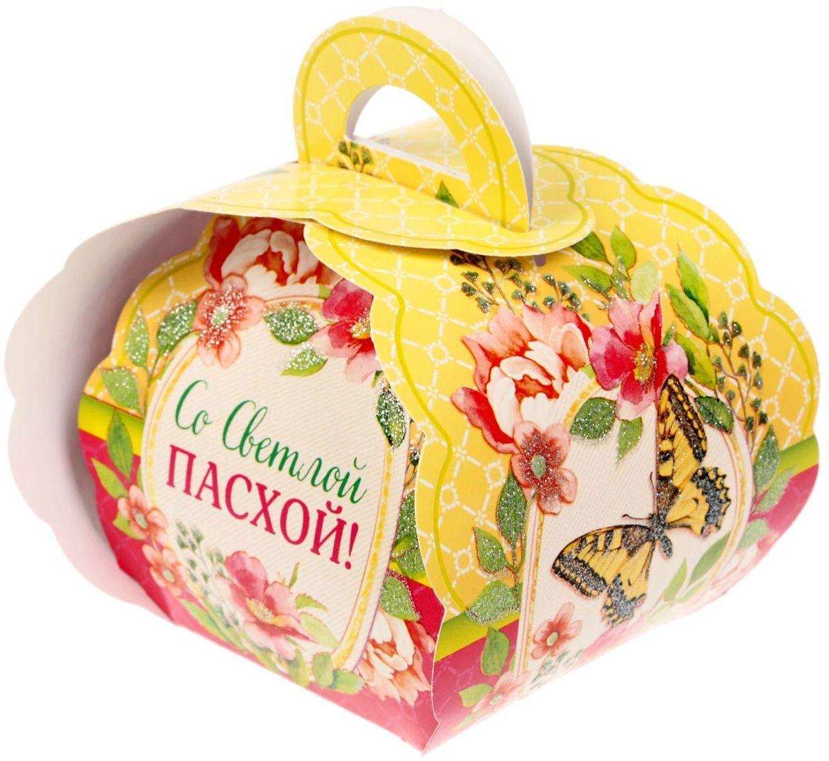 Коробочка подарочная для яйца Со Светлой Пасхой! акварель. 17616131761613Коробочка подарочная для яйца — новое веяние в мире подарочной упаковки. Представьте, как здорово будет преподнести родным и близким подарки в таком оформлении. Душевный дизайн в народном стиле и пасхальные символы никого не оставят равнодушным. Коробочка надёжна и легка в использовании. Согните её по линиям и положите внутрь заготовленный презент. Благодаря удобной ручке изделие удобно переносить. Размер заготовки: 13,4 х 26,2 см.