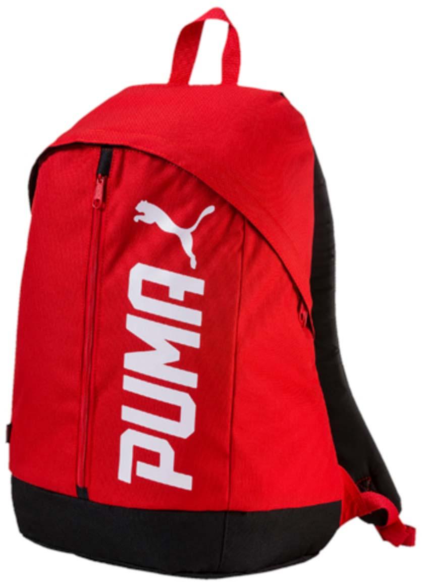 Рюкзак Puma Pioneer Backpack Ii, цвет: красный. 0744170507441705Рюкзак Puma выполнен из текстиля. Модель с одним отделением, спереди имеется карман на молнии. Рюкзак оснащен регулируемыми по длине плечевыми лямками и петлей для подвешивания.